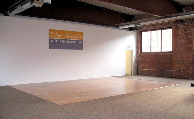 Photo of inside of the Studio at Billings Forge in Hartford, CT