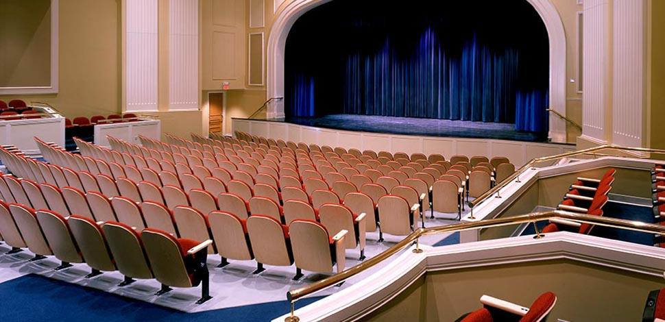 Photo of inside of Hoffman Auditorium at University of Saint Joseph in West Hartford, CT