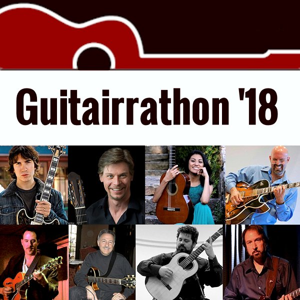 Guitarrathon '18 <br><font style=&quote;font-size: 0.60em; font-family: 'Open Sans', sans-serif; font-weight:bold&quote;>Saturday, April 21, 2018</font>