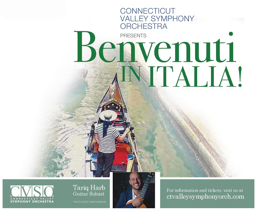 Tariq Harb performs Castelnuovo-Tedesco Concerto with the Connecticut Valley Symphony Orchestra
